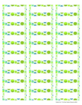 """Ocean Colors EDITABLE Avery 1"""" x 2 5/8"""" Labels (7 sheets of patterns)"""