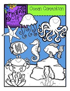 Ocean Commotion {Creative Clips Digital Clipart}