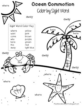 Ocean Commotion Literacy & Math Packet