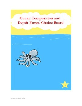 Ocean Composition and Depth Zones Choice Board