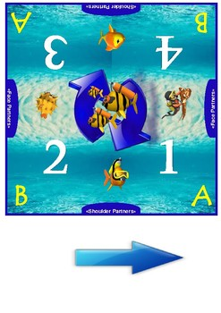 Ocean Themed Cooperative Learning Mat Set