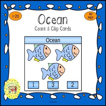 Ocean Count and Clip Task Cards