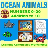 Numbers to 20 and Addition to 10 Ocean Animals Learning Ce
