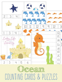 Ocean Counting Cards and Puzzles