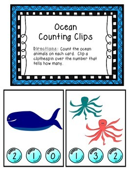 Ocean Counting Clips 1-10