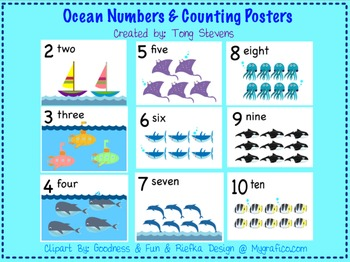 Ocean Counting Posters 0-20