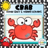 Ocean Crab craft and Writing Activities