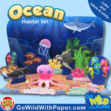 Ocean Craft Activity   Ocean Habitat Diorama   Paper Model