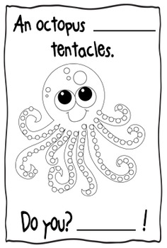 Ocean Creature Emergent Reader Book