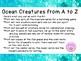 Ocean Creatures A to Z