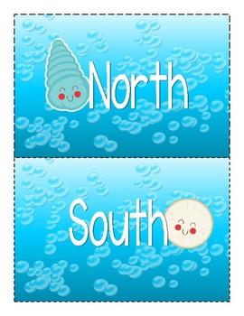 Ocean Creatures Cardinal Directions Signs