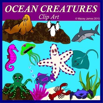 Ocean Life and Creatures Clip Art