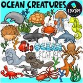 Ocean Creatures Clip Art Bundle {Educlips Clipart}