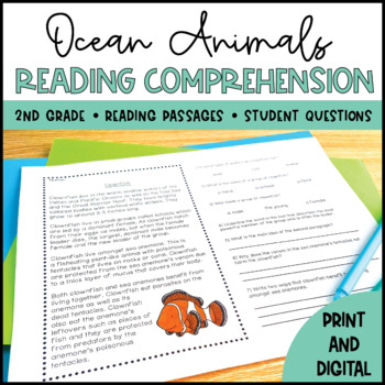 Ocean Animals Close Reading - Distance Learning