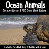 Ocean Creatures Creative Writing and ABC Order Stations