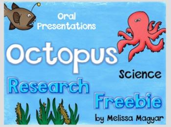 Ocean Creatures Octopus Freebie