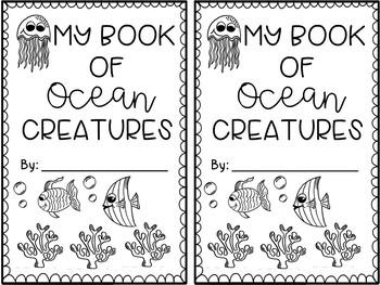 Ocean Creatures Printable Book-FREEBIE