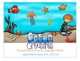 Ocean Creatures Receptive/Expressive Language Packet