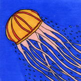 Ocean Creatures Sticker or Clipart Jellyfish