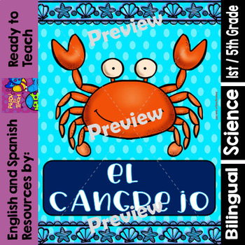 Ocean Creatures - The Crab - Worksheets and Readings - Bilingual Resource
