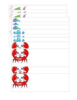 Ocean Cubby Tags