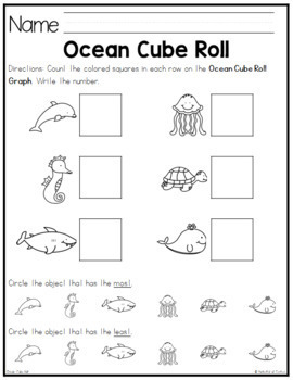 Ocean Cube Roll Math Game