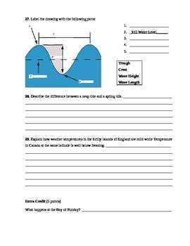 Oceans - Ocean Currents Assessment (Test)