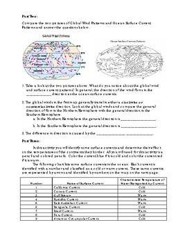 Ocean Currents & Climate - lesson packet