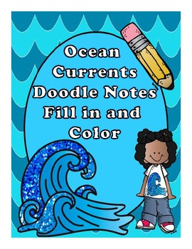 Ocean Currents Fill in and Color Doodle Notes