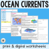 Ocean Currents - Guided Reading & Practice - PDF & Digital