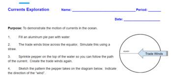 Ocean Currents Lesson Plan