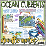 Ocean Currents Squiggle Sheets & Quiz  NGSS  MS-ESS2-6