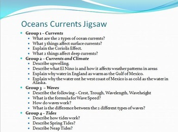 Oceans - Ocean Currents Unit