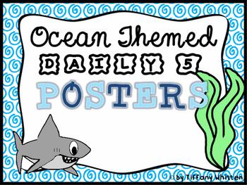 Ocean Daily 5 Poster Set