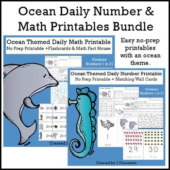 Ocean Daily Number & Math Bundle