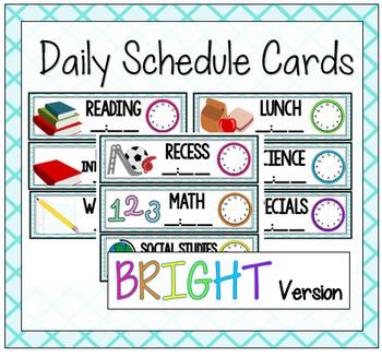 Ocean Daily Schedule {Bright Version}