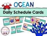 Ocean Daily Schedule Cards - Editable