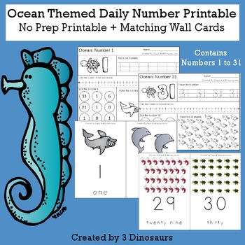 Ocean Daily Themed Number