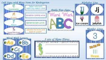 Ocean Decor Bundle + Kindergarten Daily Five