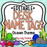 Ocean Desk Name Tags...Editable