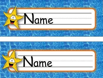 Nameplates Oceans of Fun *EDITABLE VERSION*