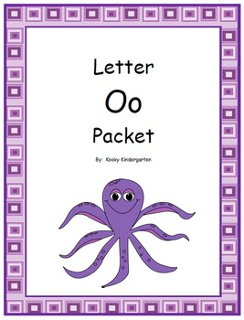 Letter O Phonics and Writing Pack