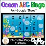 Ocean Digital Letter Bingo Game for Google Slides™ with al