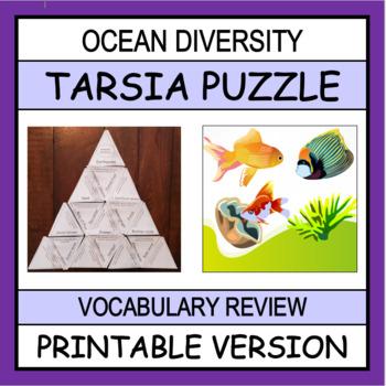 Ocean Diversity Vocabulary Puzzle (Tarsia Puzzle)