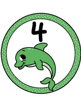 Ocean/Dolphin Table Numbers 1-9