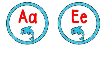 Ocean/Dolphin Word Wall Letters A-Z