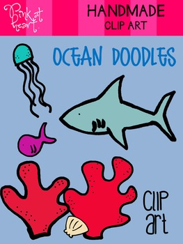 Ocean Doodles Clip Art FREEBIE