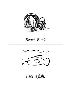 Ocean Easy Reader - Beach Book - Sight Words