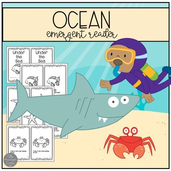 Ocean Emergent Reader and Printables
