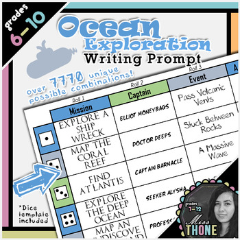 Ocean Exploration Roll-A Writing Prompt